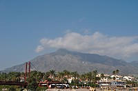 Puerto Banus beach and bridge in Marbella