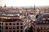 View of the downtown of Madrid, Spain, Europe