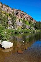 The calm shallow Lake