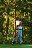 A Man Golfing At Lynnwood Golf Course, Lynnwood Washington United States Of America