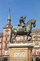 Equestrian Statue Of King Felipe Iii, Madrid Spain