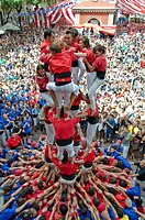 Castellers festival in Barcelona