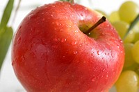 Apple in red