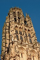 France, cathedral tower bell of Rouen in Normandy