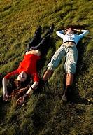 Girls on the grass