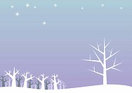 illustration of white trees in a winter