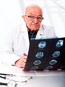 doctor checking xray
