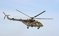 Russian army Mi_8 helicopter