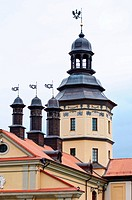 The castle tower. Belarus. Nesvij