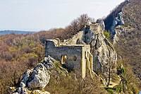 Kalnik mountain fortress on cliff