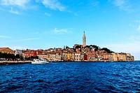 Medieval City of Rovinj Surrounded by Blue Sea, Croatia