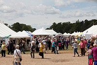 tents and marquees at busy country show