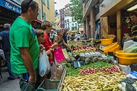 Perpignan, France, People Shopping in Public Market, Street Scenes, Old City Center
