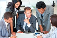 Multi_ethnic business people working together in a project