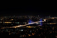 Night view of Bosphorus Bridge