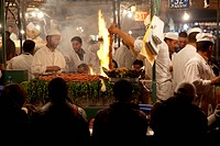 Market food stall, Place Jemaa El Fna, Marrakesh, Morocco, North Africa, Africa