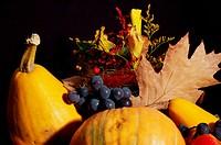 Autumn pumpkin composition