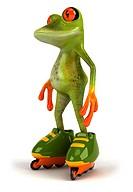 Frog skating