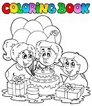 Coloring book with party theme 2