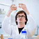 young, male researcher/chemistry student