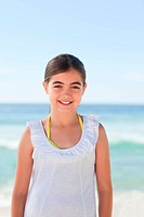 Little girl one the beach