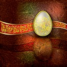 abstract illustration with easter egg