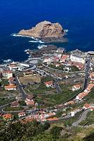View of Porto Moniz from above, Madeira, Portugal