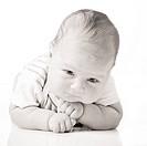 Adorable baby boy isolated.