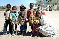Children - Spitzkoppe village. Namibia.