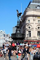 Statue of Eros at Piccadilly in London UK
