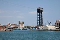 Cable car station in Port Vell, Barcelona, Catalonia, Spain, Europe, PublicGround