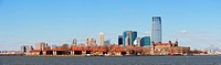 New Jersey skyline from New York City Manhattan downtown