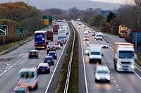 busy traffic at dusk on the A34
