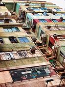 A photo of slum houses in Hong Kong