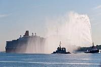 Cruiser Queen Elizabeth in Port of Kiel, Germany, 24.07.12