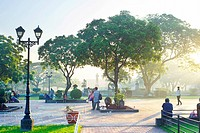 Manila, Philippines _ April 04, 2012: Rizal Park also known as Luneta Park is a historical urban park located in the heart of the city of Manila, Phil...