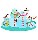 Snow Man Family