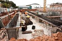 Urban construction site