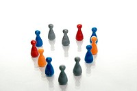 Concept of a multi_colored crowd