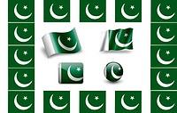 flag of Pakistan.icon set. flags frame.