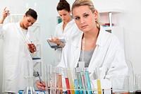 Women working in a laboratory