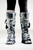 Punk girl with boots
