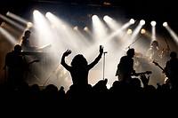 Ambiance during live rock concert, Belgium