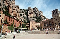 Mountains of Montserrat and the Montserrat Benedictine Monastery, Barcelona, Catalonia, Spain, Europe