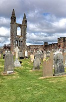 St Andrews Cathedral, St Andrews, Fife, Scotland, UK