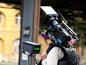 Cameraman during shooting of Italian TV Film Secret Olympics Olimpiadi segreti on October 7, 2011 in Terezin, Czech Republic CTK Photo/Krystof Kriz