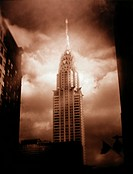 Chrysler Building Against a Cloudy Sky