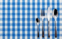 Lined dinner cloth