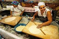 Preparing ´böreks´ at Antalya, Turkey