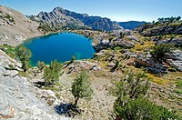 Ruby Mountains, Liberty Lake on the Ruby Crest Trail in the Ruby Mountains near the towns of Elko and Lamoille in northern Nevada